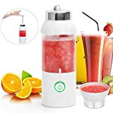 Tragbarer Mixer USB,Mini Standmixer Wiederaufladbar 550ml Juicer Cup,Portable Mini Mixer Blender travel to go,blendjet Mobiler mixer smoothie maker für Outdoor,Obst Gemüse Sport Saft Geschenk weiß