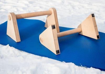 """Edel Kraft Minibarren """"to go""""- Stabile Parallettes aus Holz für unterwegs 2"""